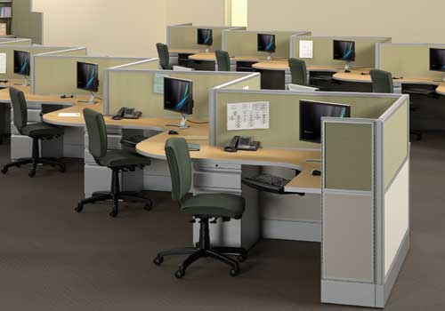 office configurations. Empower Is Our Top-of-the-line Cubicle System With Fully Customizable Segments In Multiple Configurations And Fabrications. Office R